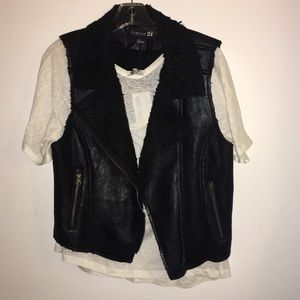 Forever 21 motorcycle vest- large